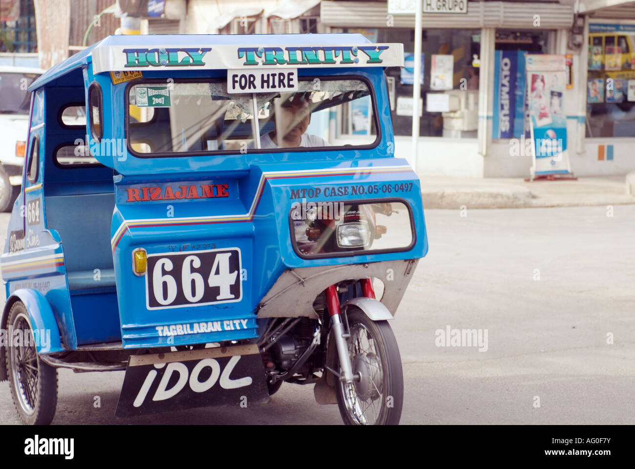 Philippines bohol tagbilaran city tricycle taxi for hire for Where to buy motors