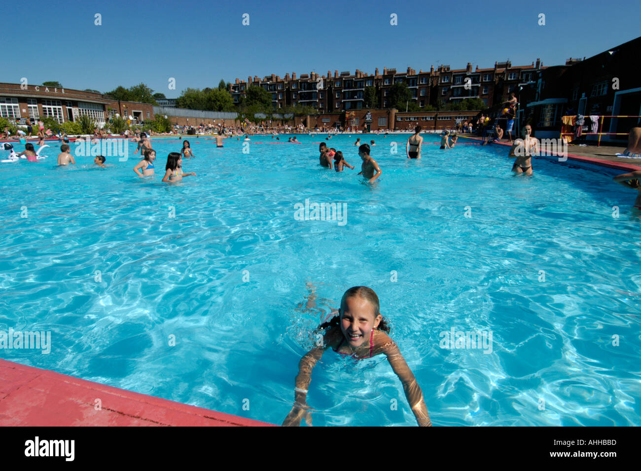 young girl at the lido outdoor swimming pool hampstead. Black Bedroom Furniture Sets. Home Design Ideas