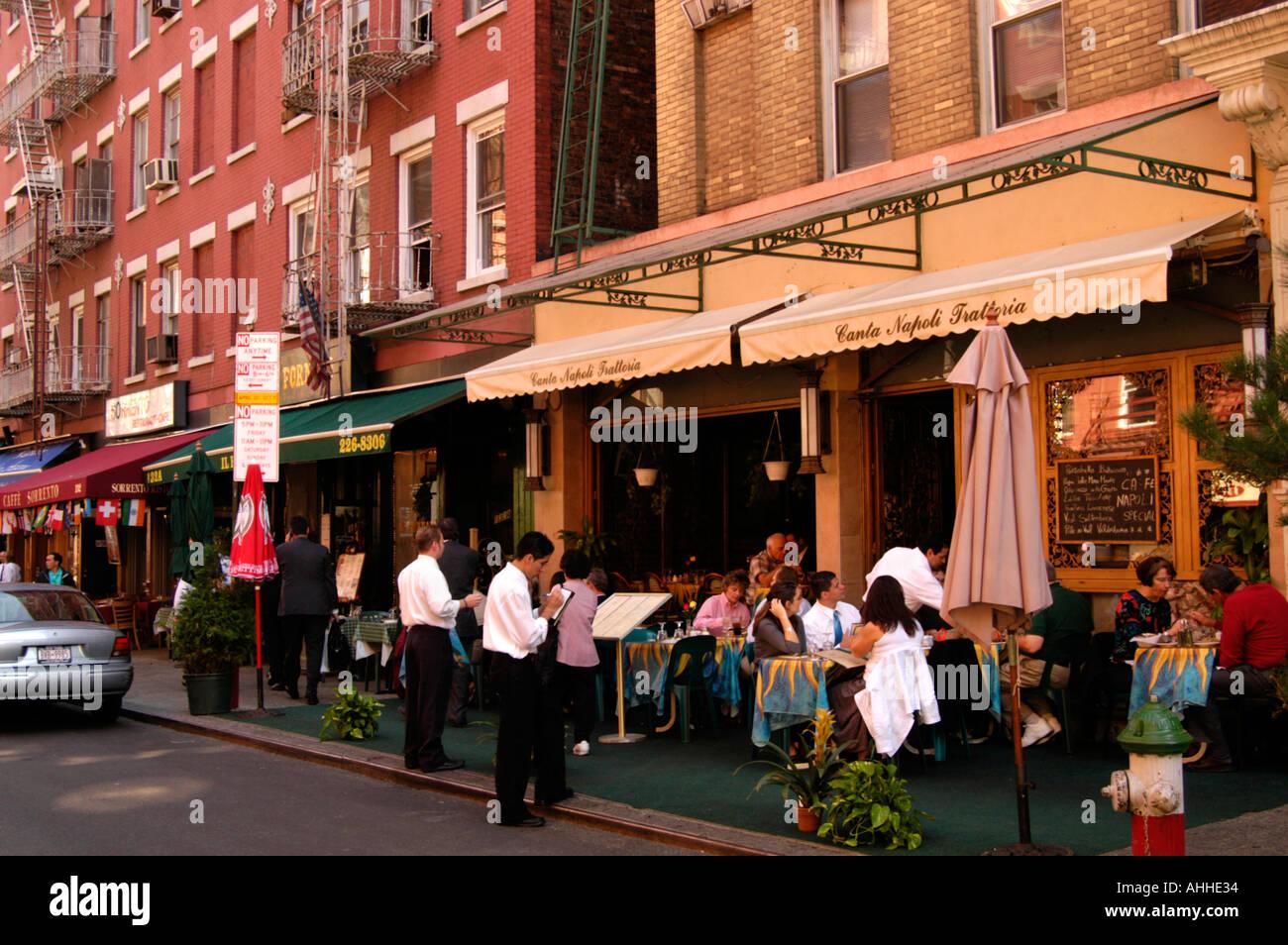 Eating at italian restaurant in little italy new york for American cuisine restaurants nyc