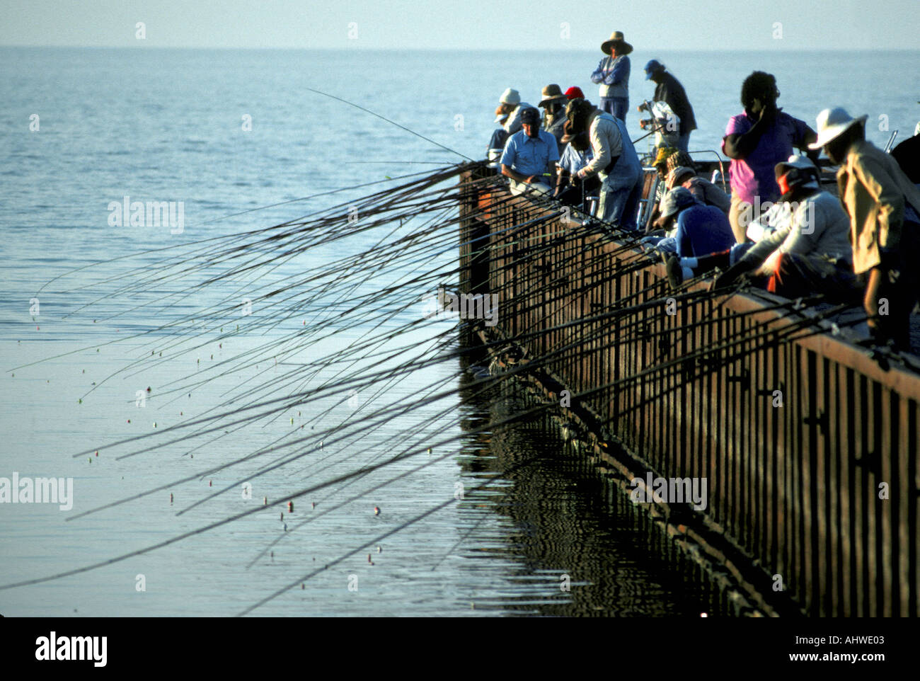 Pier fishing on lake okeechobee is a favorite pastime for Fishing piers in florida