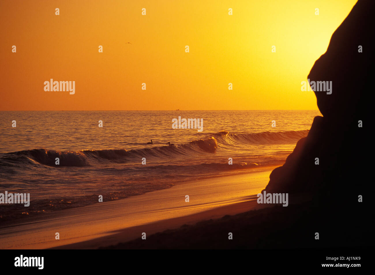 Mexico, Cabo San Lucas, Sunset, Solmar Beach Stock Photo