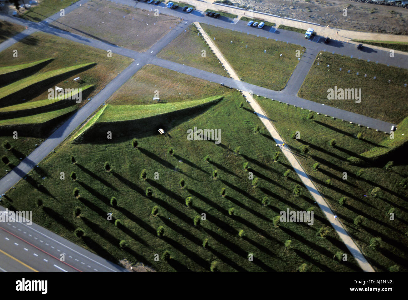 California, San Francisco, Aerial view of Crissy Field Stock Photo