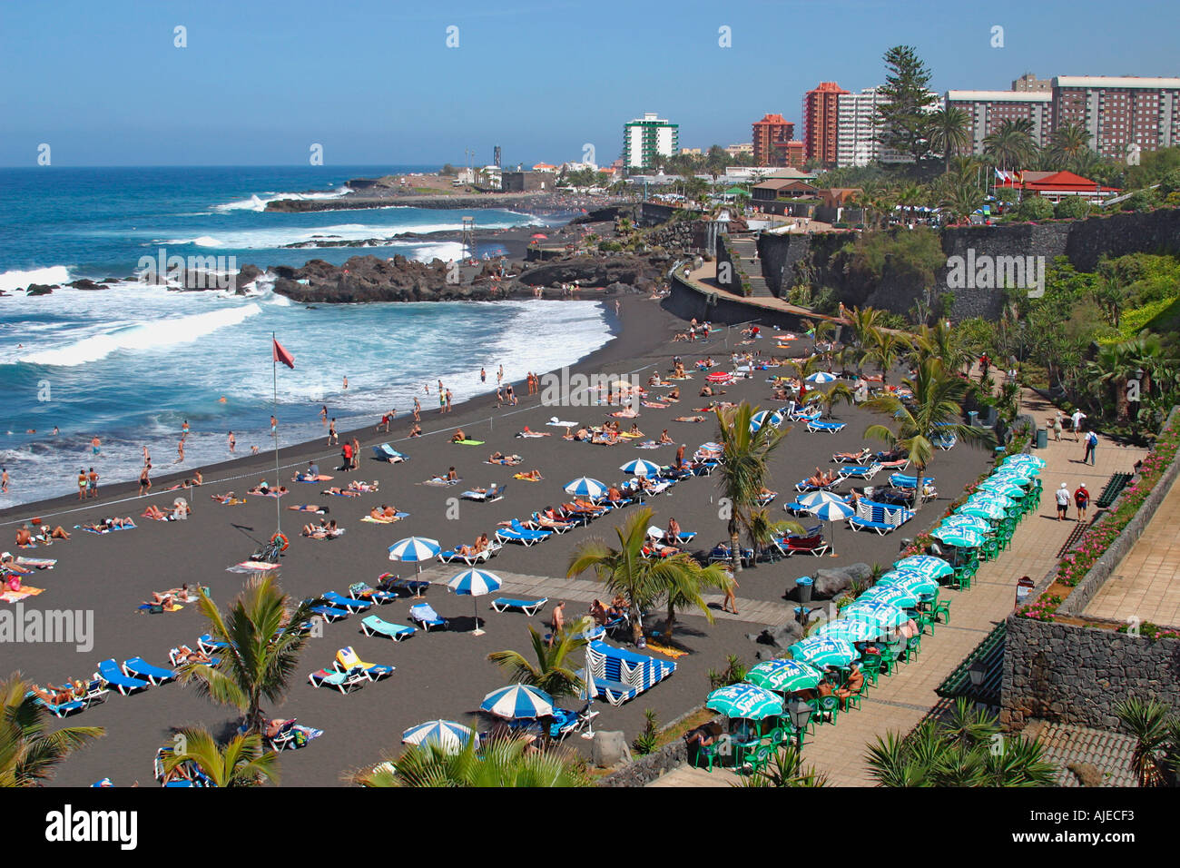 playa jardin puerto de la cruz tenerife canary islands