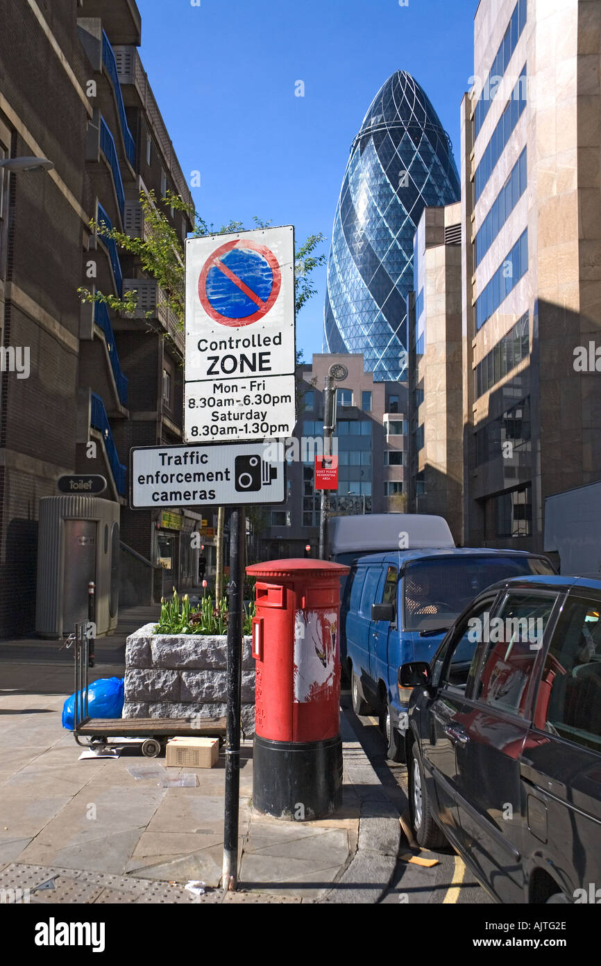 East End London: A View Of The Gherkin Tower From Petticoat Lane In London