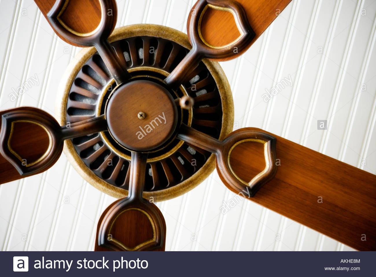Detail of ceiling fan. Stock Photo