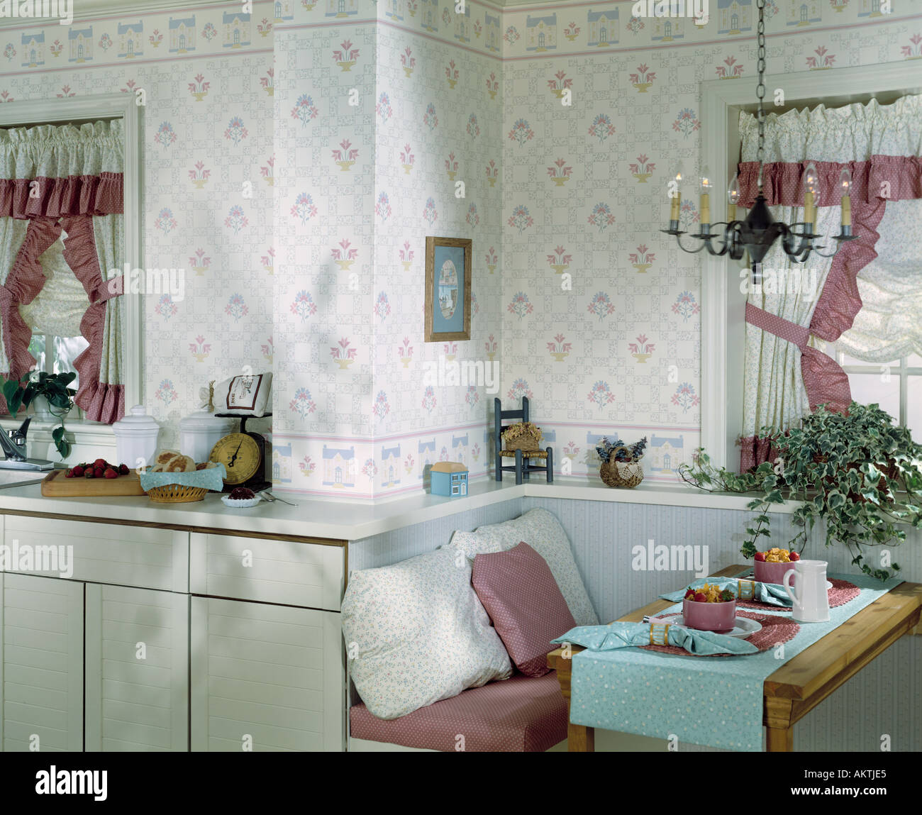 Kitchen Nook Curtains: Kitchen Alcove Breakfast Nook Dining Area Curtain Windows