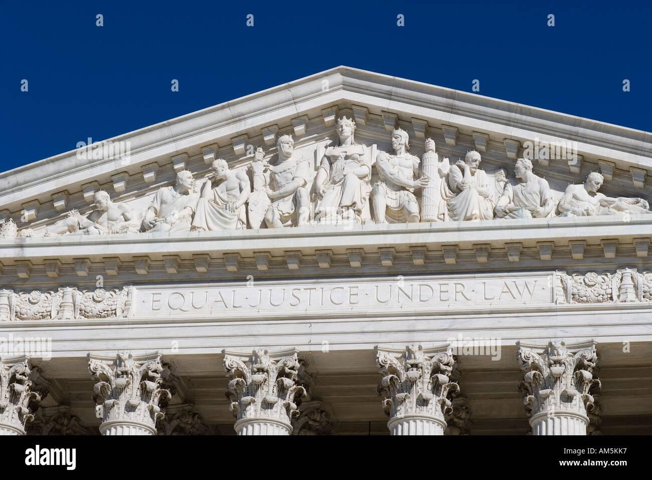 Main Frieze Of The Us Supreme Court Building  Washington