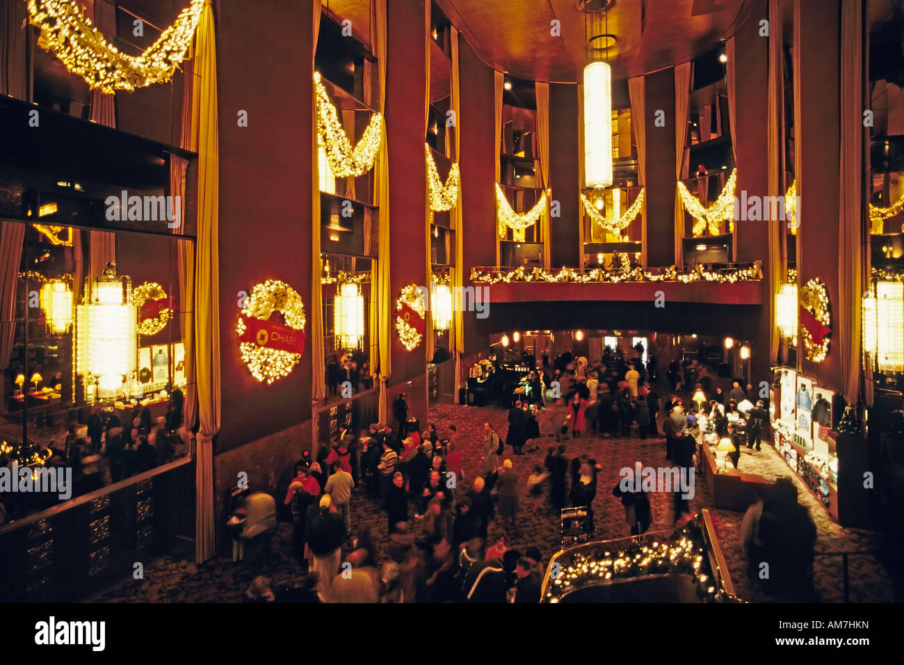 Foyer of the Radio City Music Hall, New York City, USA ...