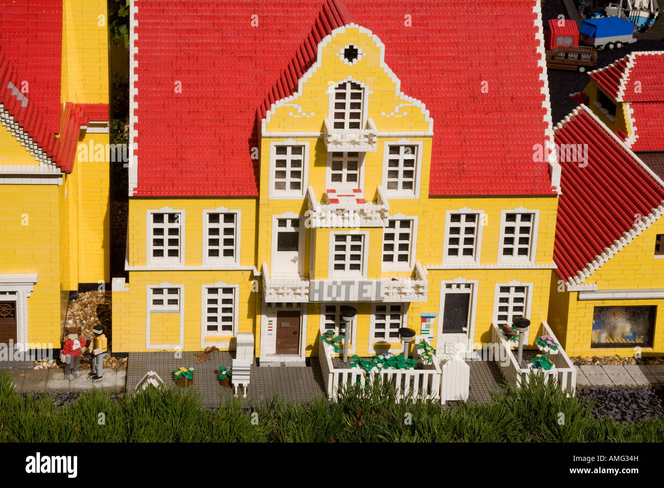 Scandinavian Style City House Made Out Of Lego Pieces