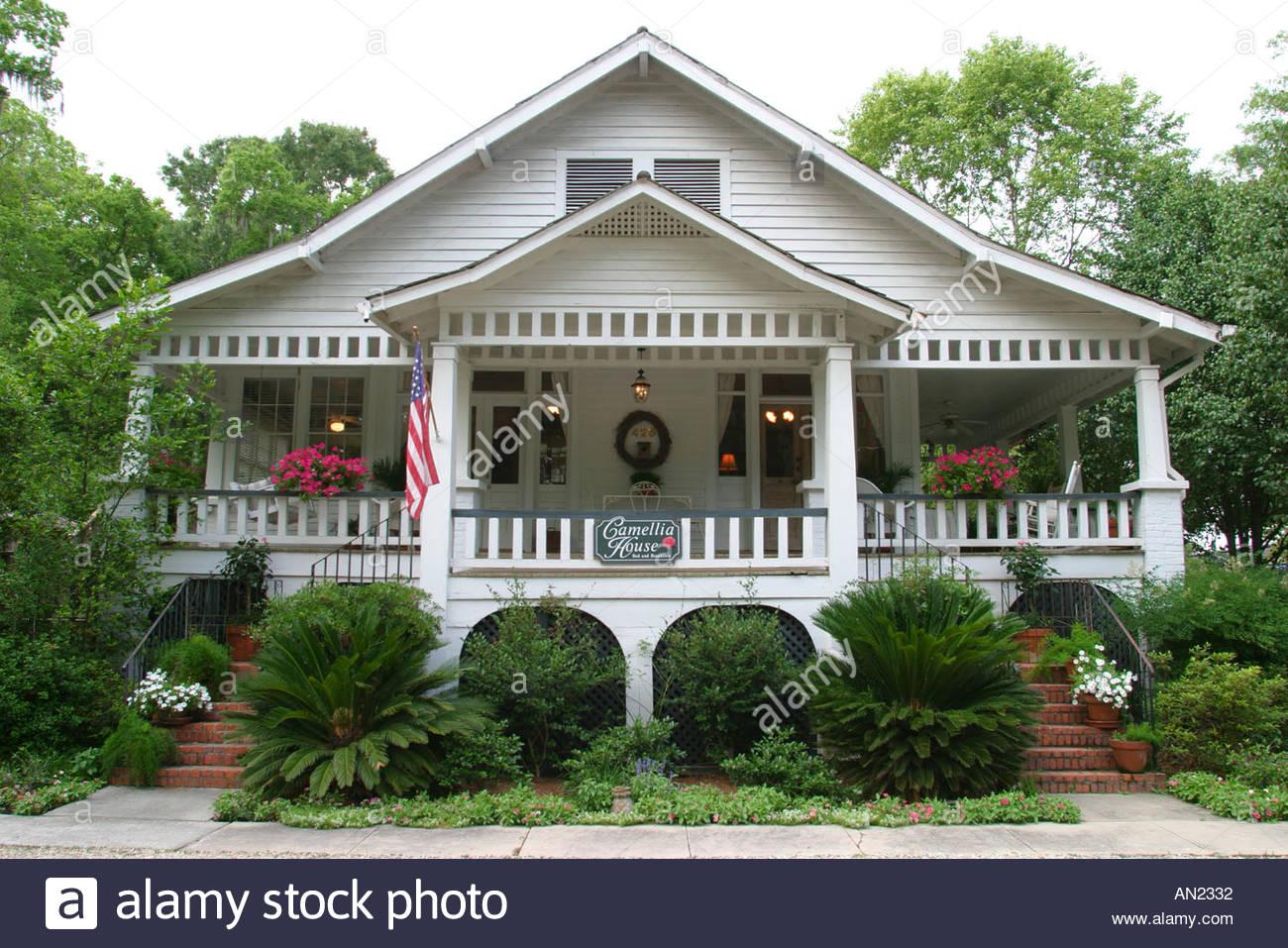 Louisiana St Tammany Parish Covington Camellia House Bed