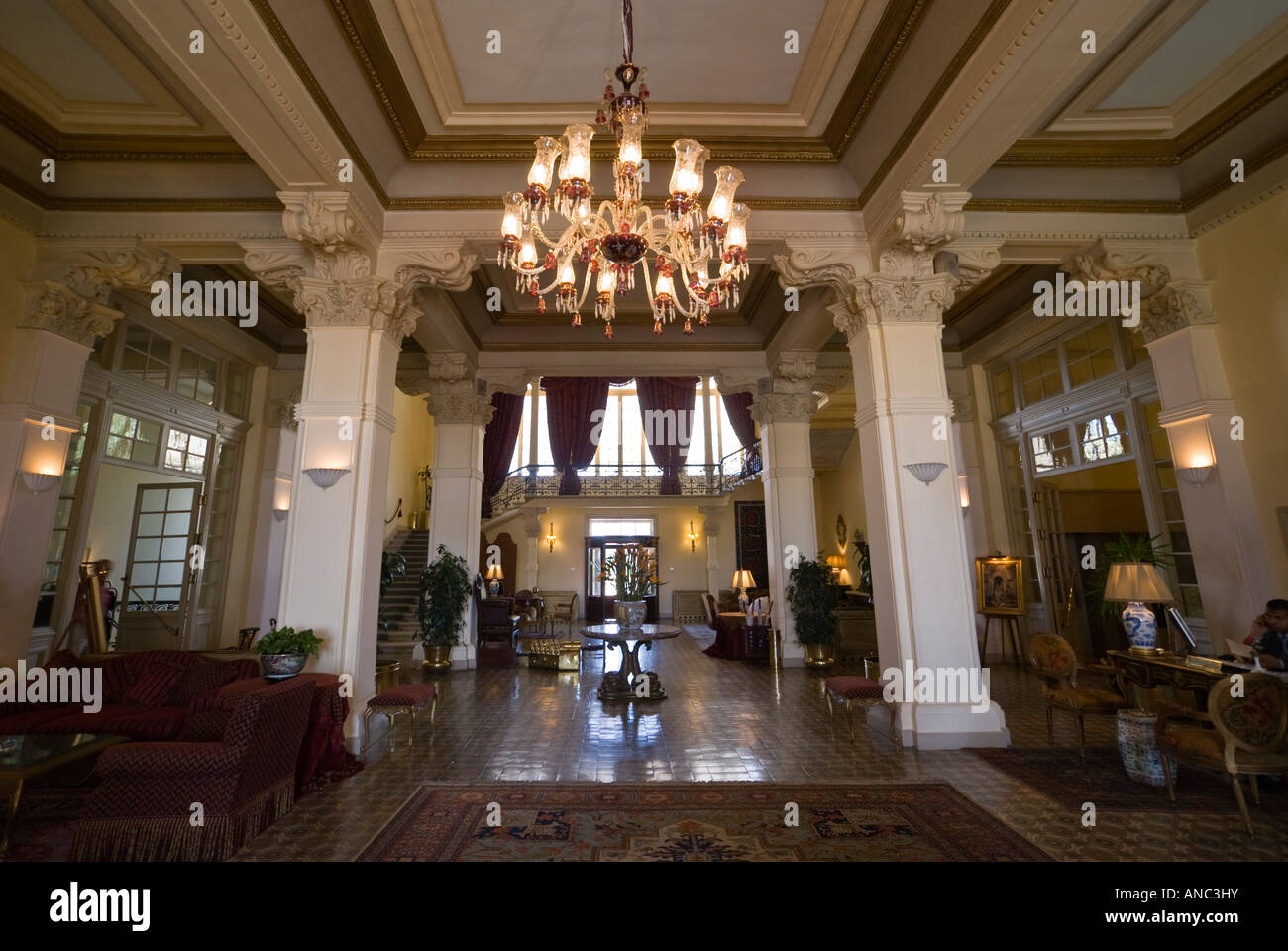 Grand Hotel Foyer : Luxor the winter palace hotel main reception foyer or