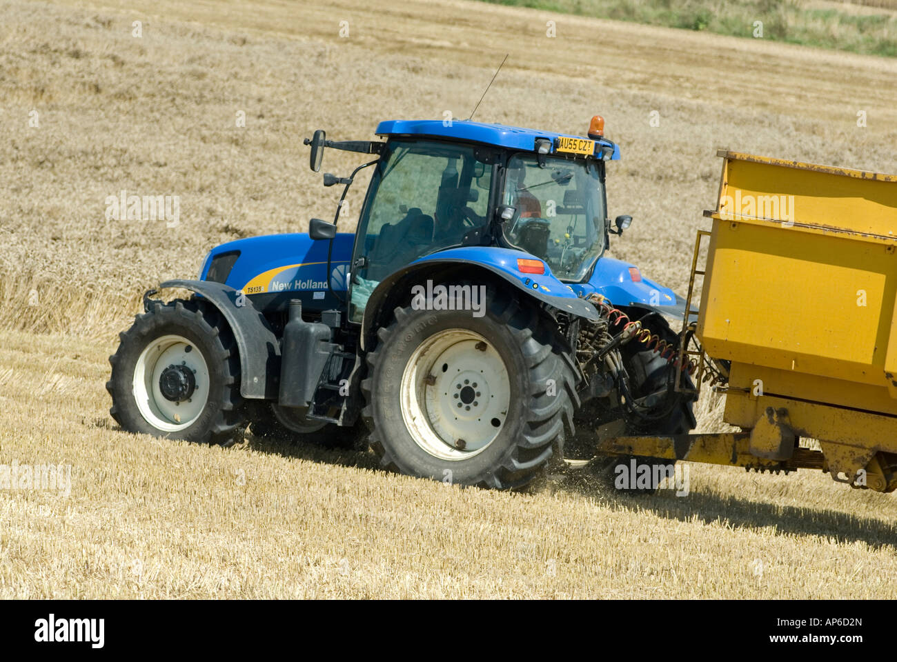 Blue Holland Tractors : Blue new holland tractor stock photo royalty free