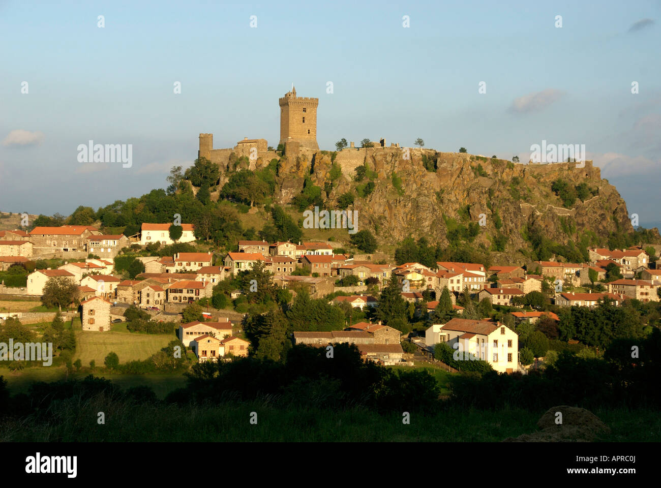 Fortress Of Polignac  Haute Loire  Auvergne  France Stock Photo  Royalty Free Image  15850241