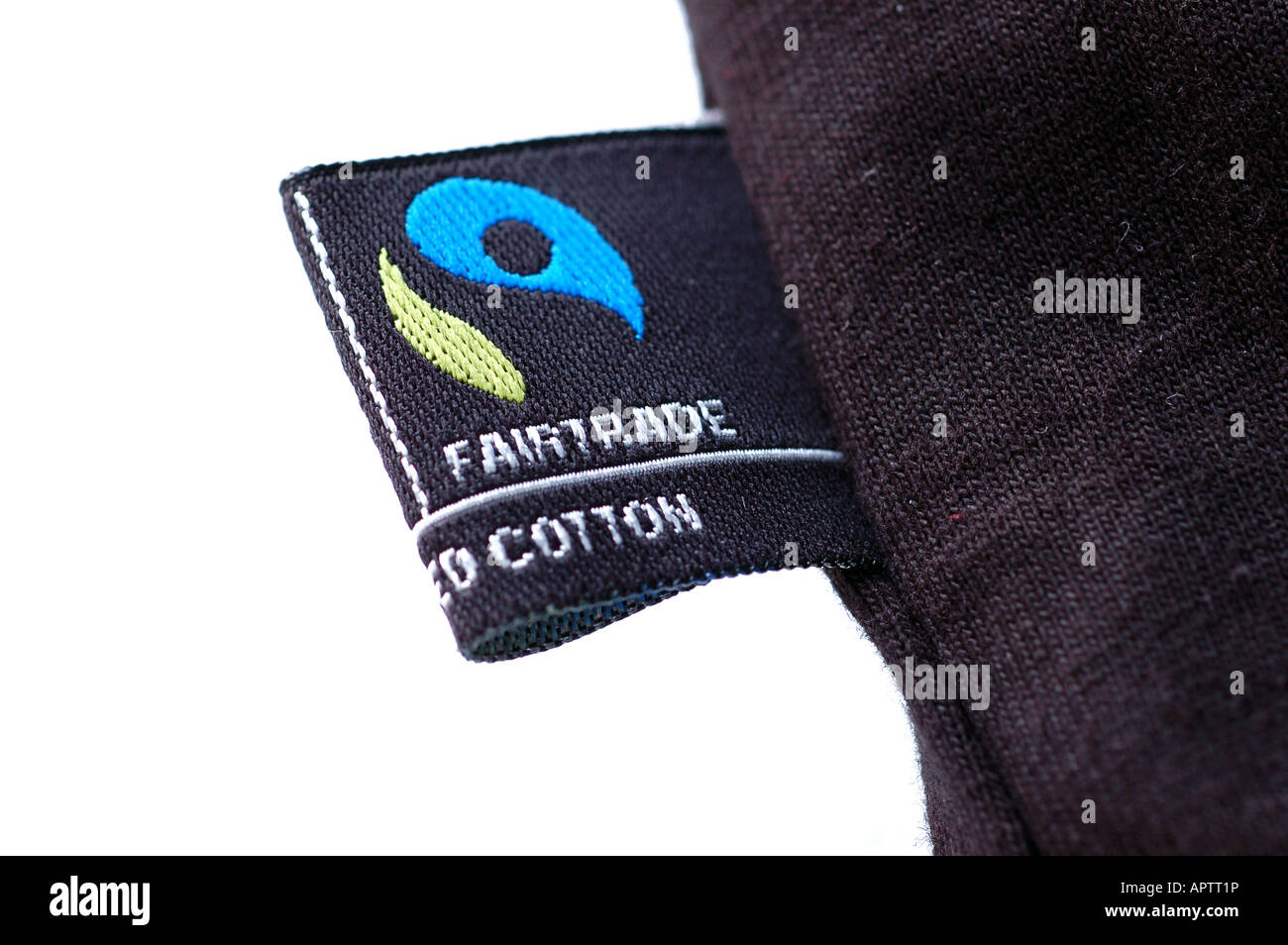 fair trade clothing logo on a black t shirt stock photo royalty free image 15863697 alamy. Black Bedroom Furniture Sets. Home Design Ideas