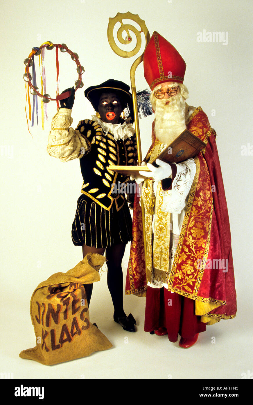 sinterklaas and zwarte piet 5 dec dutch father christmas netherlands stock photo royalty free. Black Bedroom Furniture Sets. Home Design Ideas