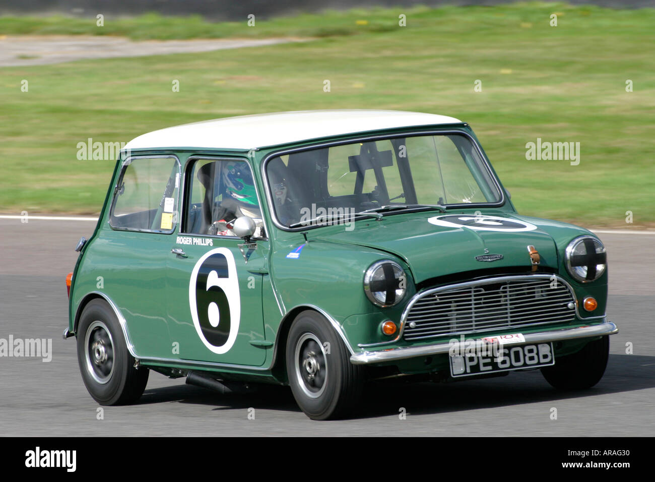 1964 austin mini cooper s at goodwood revival sussex uk stock photo royalty free image. Black Bedroom Furniture Sets. Home Design Ideas