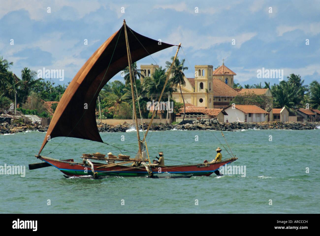 Oruva fishing catamaran negombo sri lanka stock photo for Sri lanka fishing