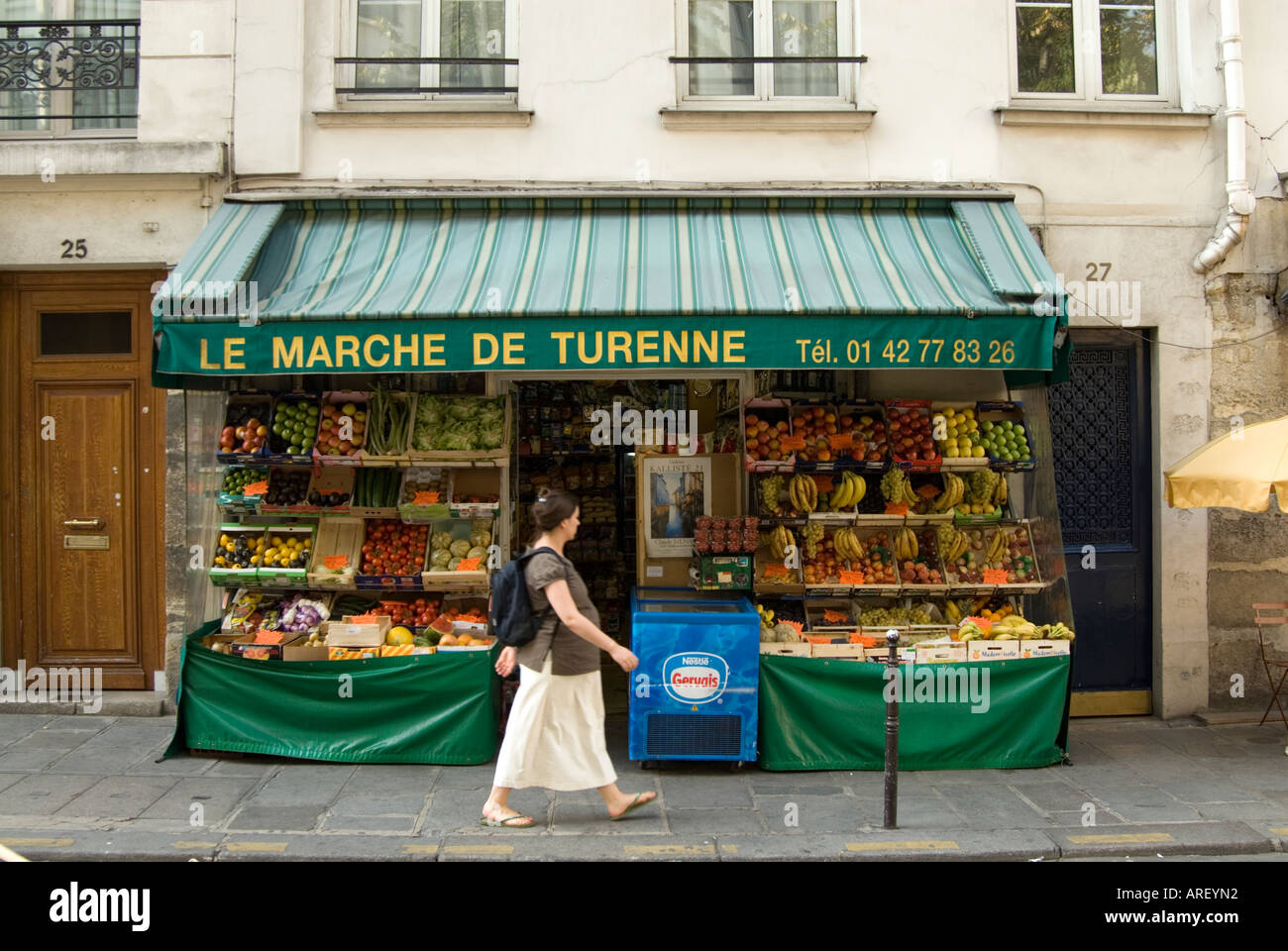 Small Local Grocery Shop With Fruit And Vegetables Under