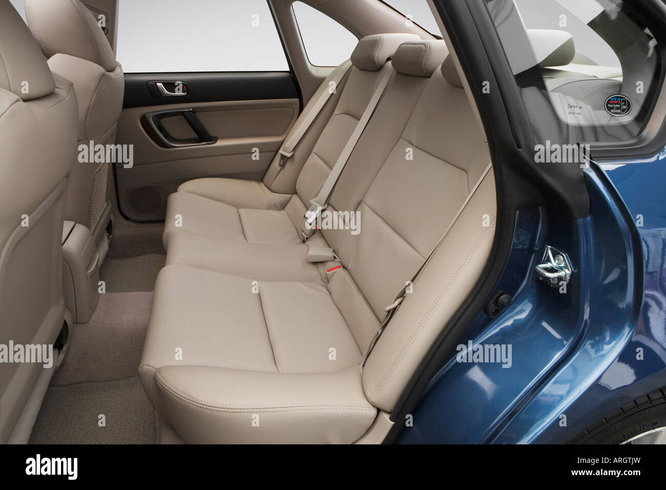 2008 subaru legacy 2 5 gt limited in blue rear seats stock photo royalty free image 16052064. Black Bedroom Furniture Sets. Home Design Ideas