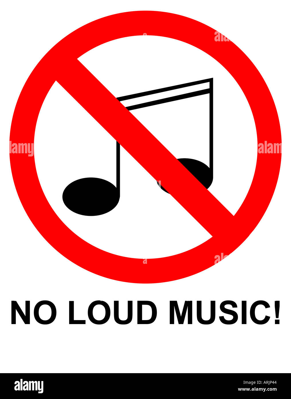 No Loud Music Sign Stock Photo 5246531 Alamy