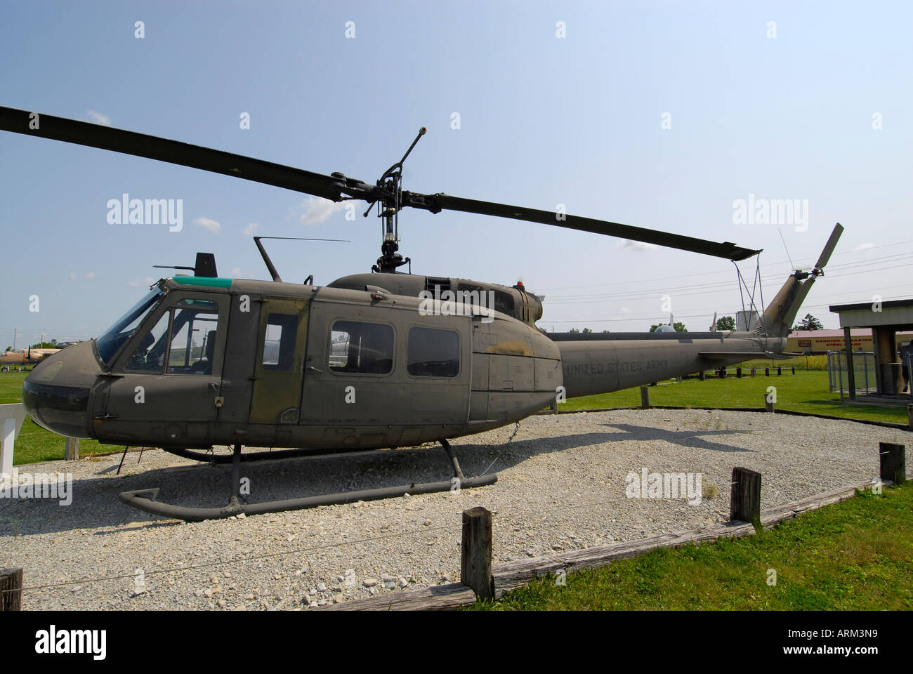 Huey Helicopter For Sale >> Bell UH 1H Huey helicopter at the Grissom Air Museum outside of Stock Photo: 9190040 - Alamy