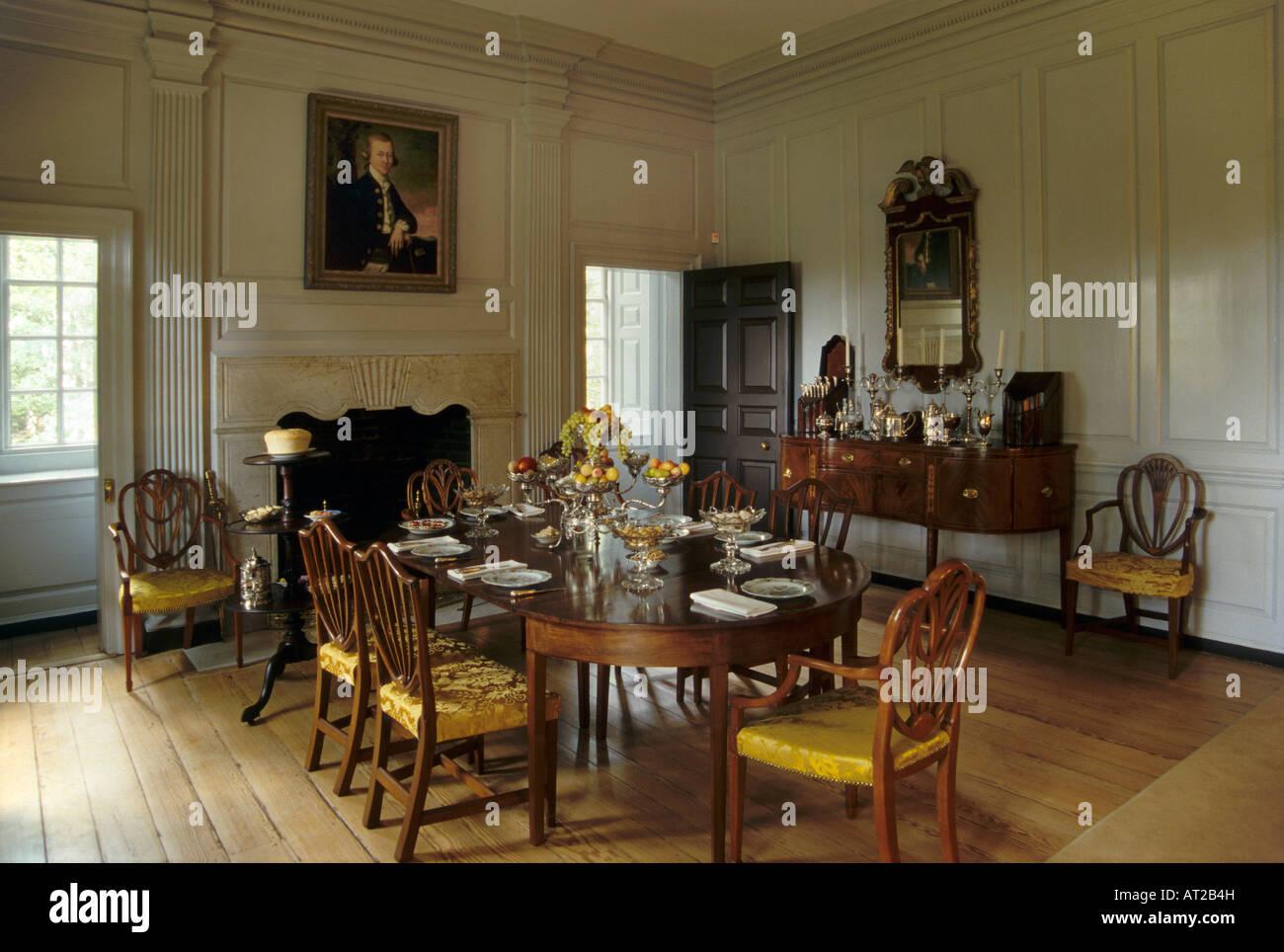 Buy Dining Room Table Wilton House Museum Richmond Virginia Usa Stock Photo