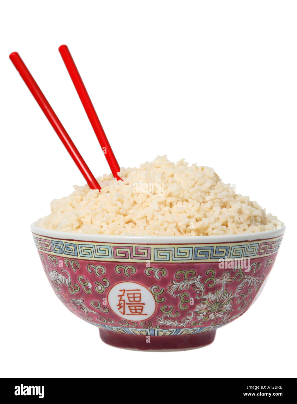 Chinese Bowl With Rice And Chopsticks Stock Photo, Royalty ...