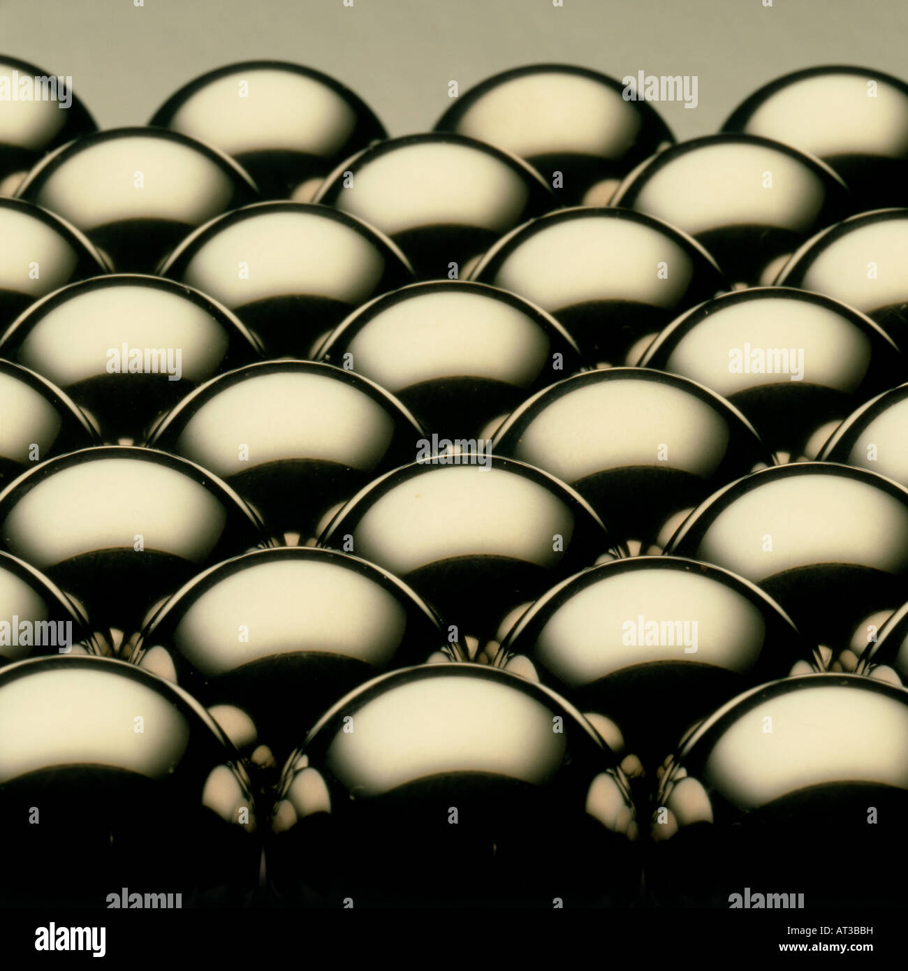Metallic balls Stock Photo