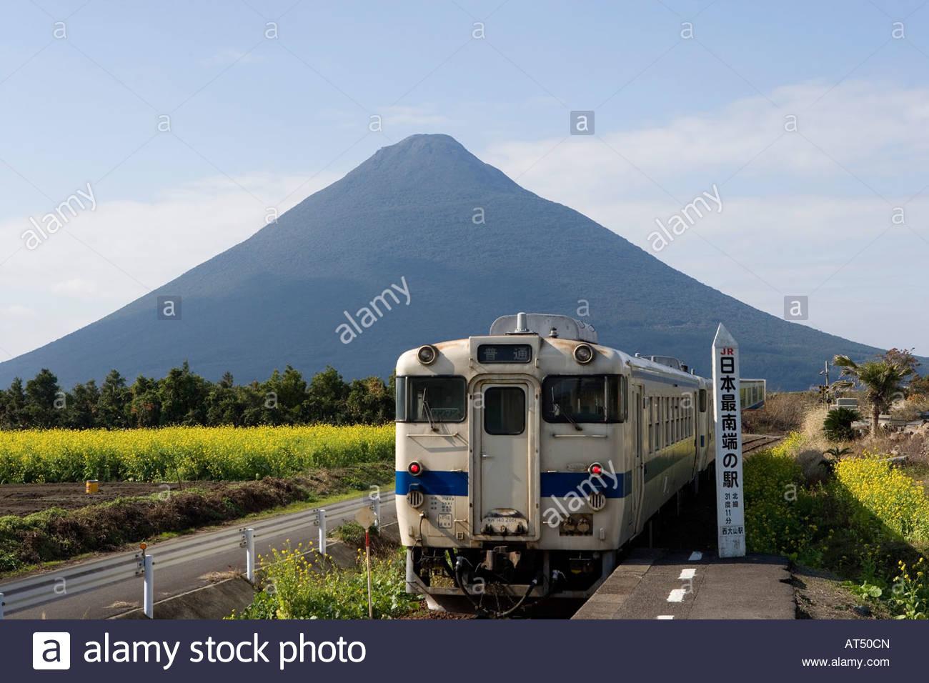 Jr Ibusuki Makurazaki Line, Nishioyama Station, Ibusuki, Kagoshima Stock Phot...