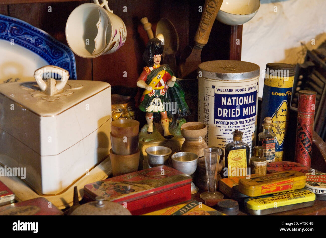 Skye Museum Of Island Life At Kilmuir Isle Scotland Rural Scottish Cottage Interior With Everyday Bric A Brac