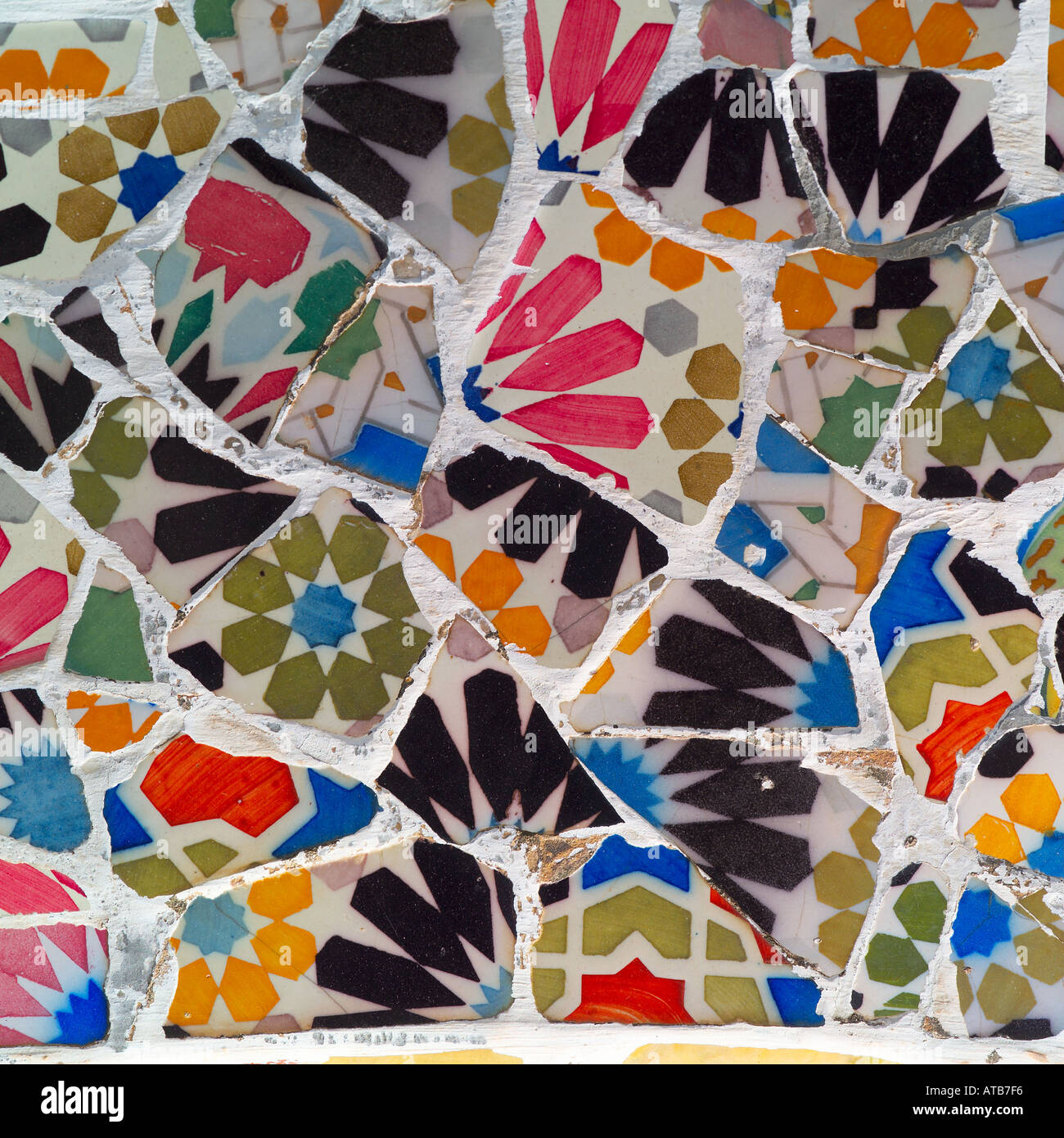 Broken Mosaic Tiles Parc Guell Barcelona 1910 12 By Antoni
