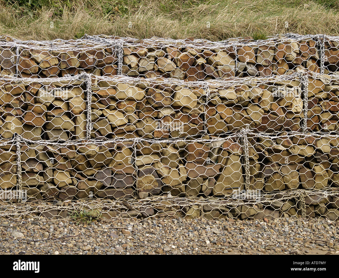 gabion used for erosion control on summerleaze beach made of caged stock photo royalty free. Black Bedroom Furniture Sets. Home Design Ideas