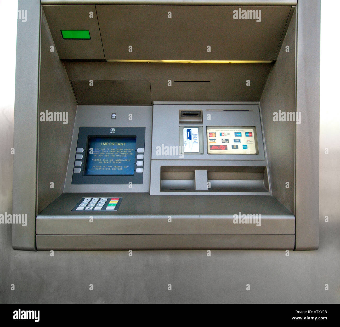 RBS royal bank scotland cash point machine automated automatic money dispencer Stock Photo