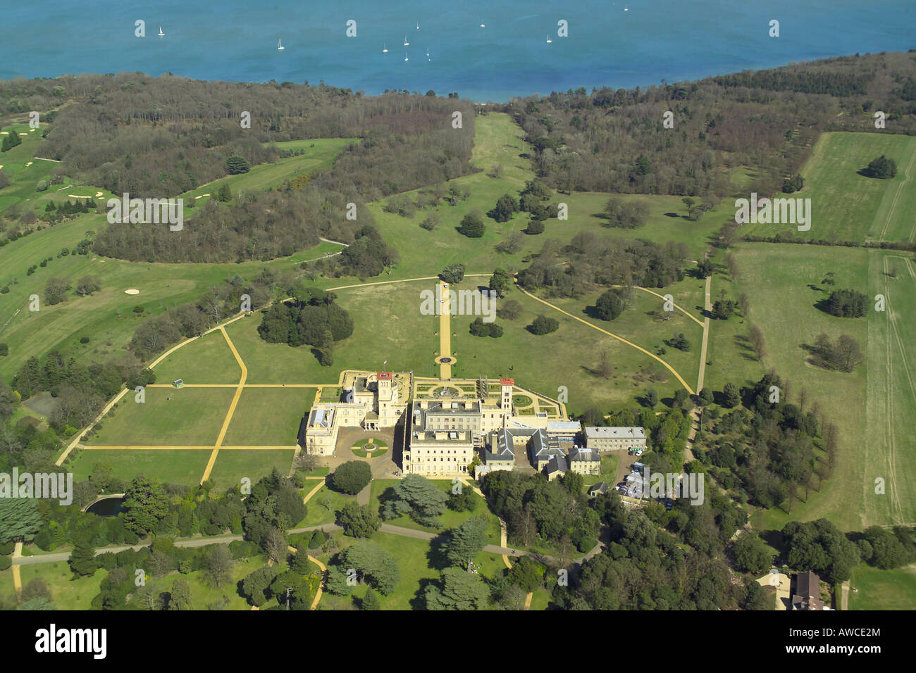 Aerial view of osborne house on the isle of wight which for See images of my house