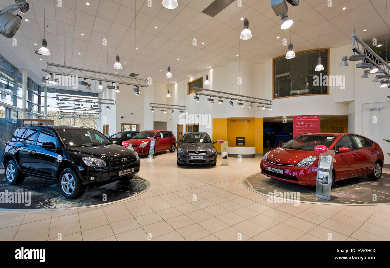Toyota car showroom interior stock photo royalty free for Auto decoration shops in rawalpindi