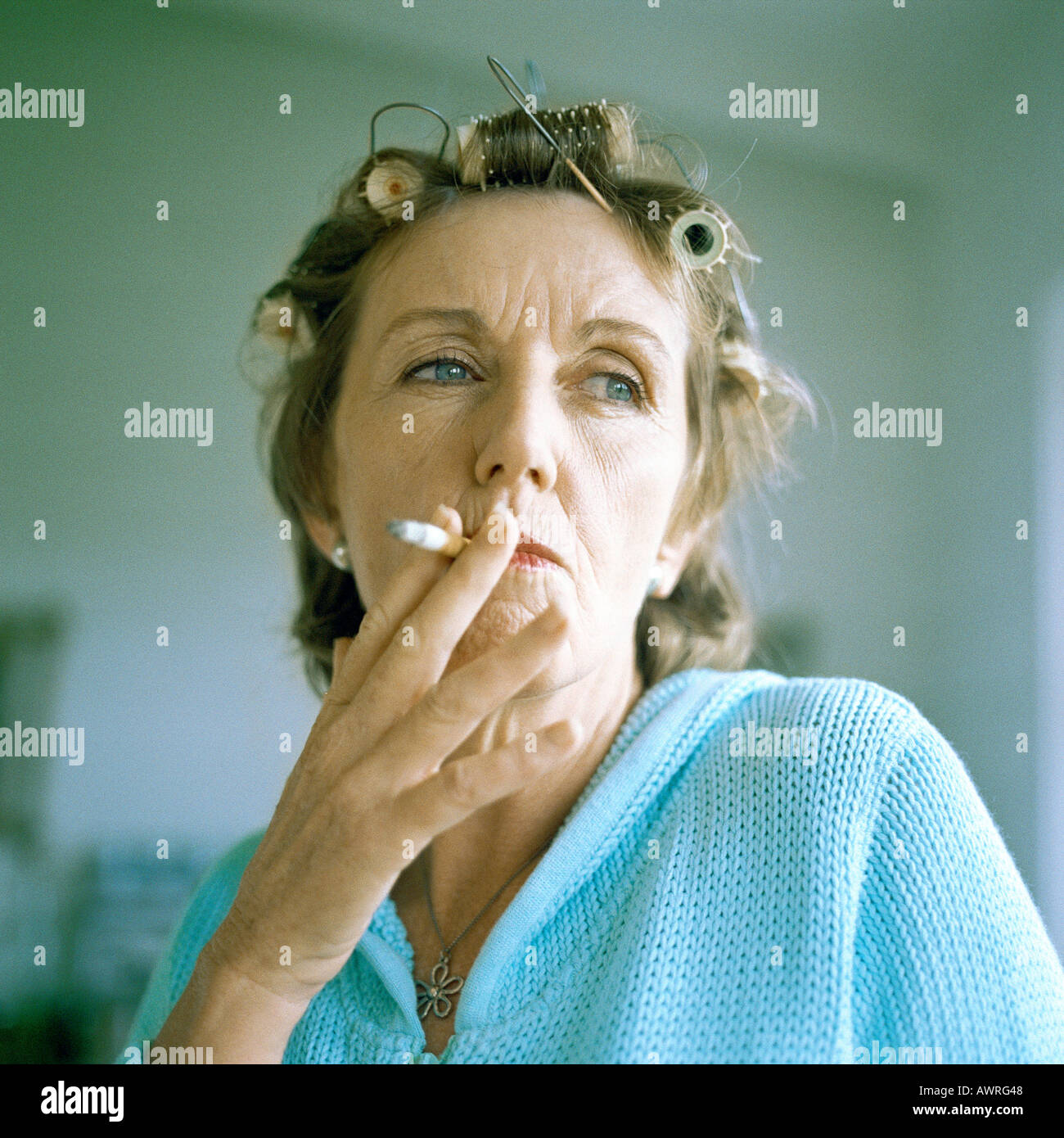 Think, that old women smoking cigarettes have hit