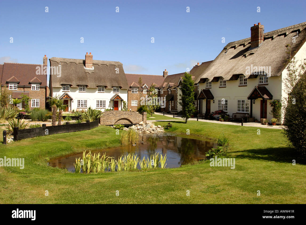 Uk West Sussex Clymping Waterford Gardens The Village