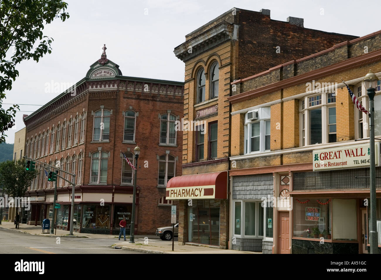 Salamanca New York a village located within Seneca Indian territory Cattaraugus County Allegany Region Stock Photo