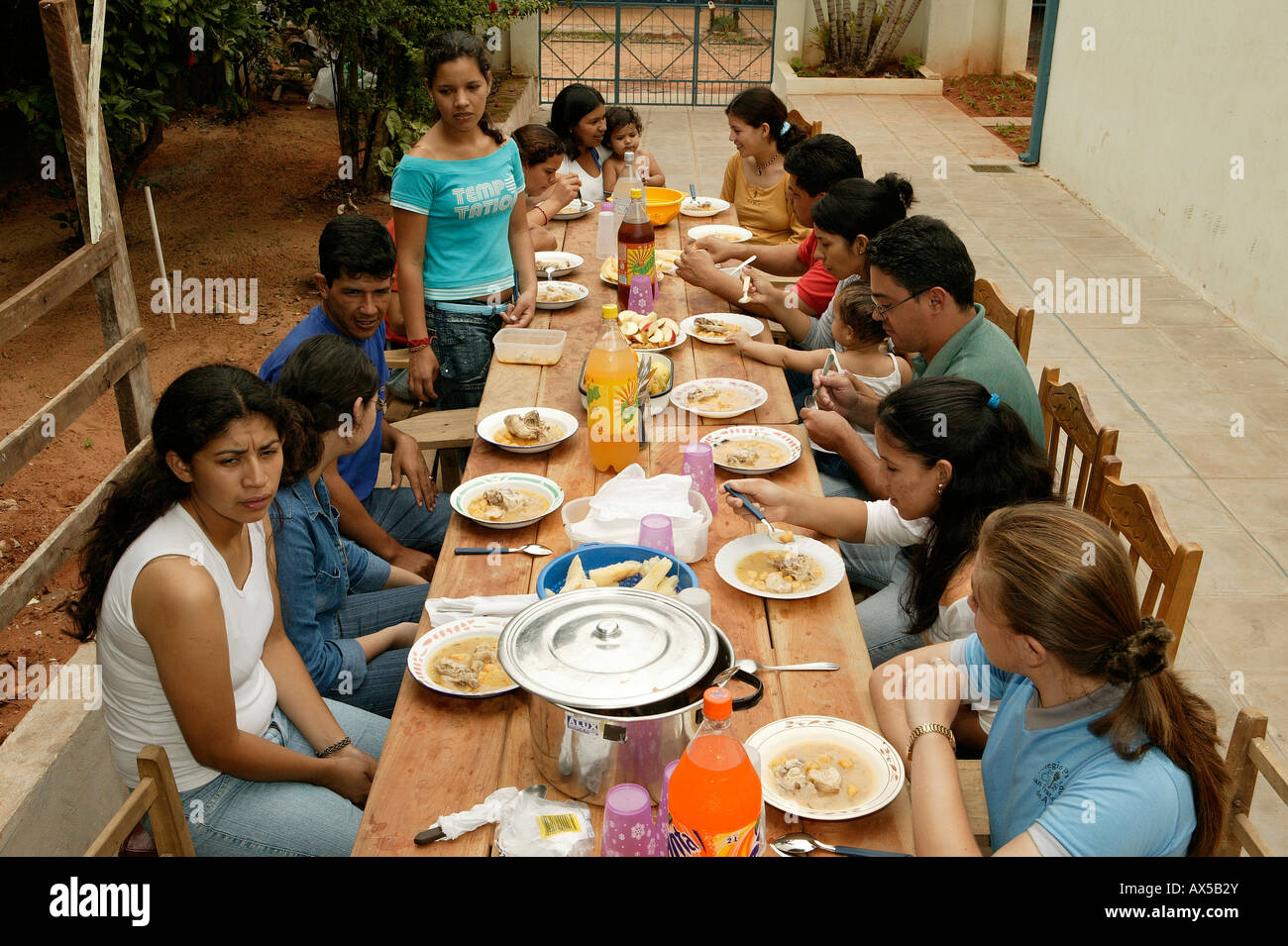 Group eating together on a terrace asuncion paraguay for The terrace group