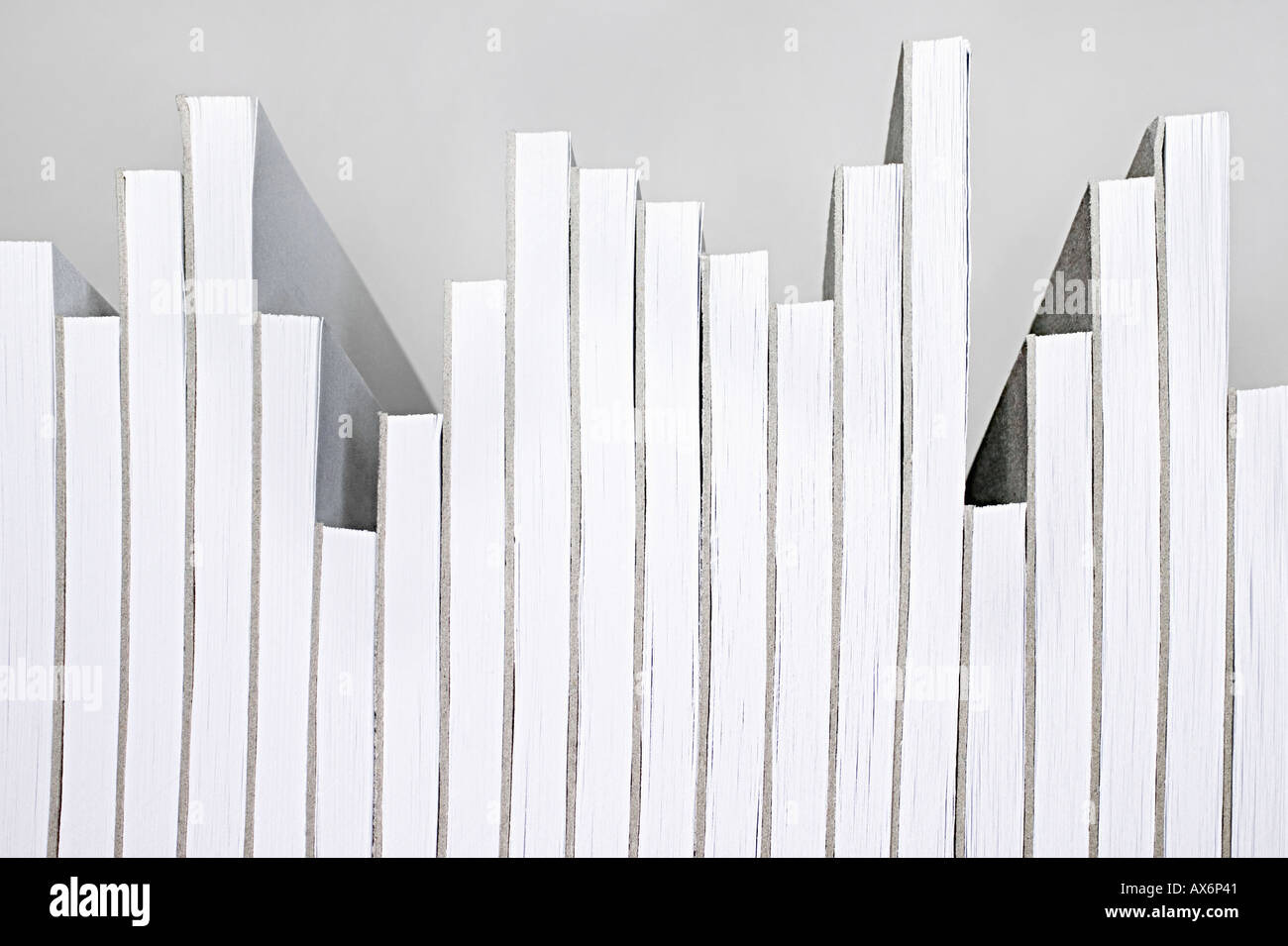 Notepads arranged liked a graph Stock Photo