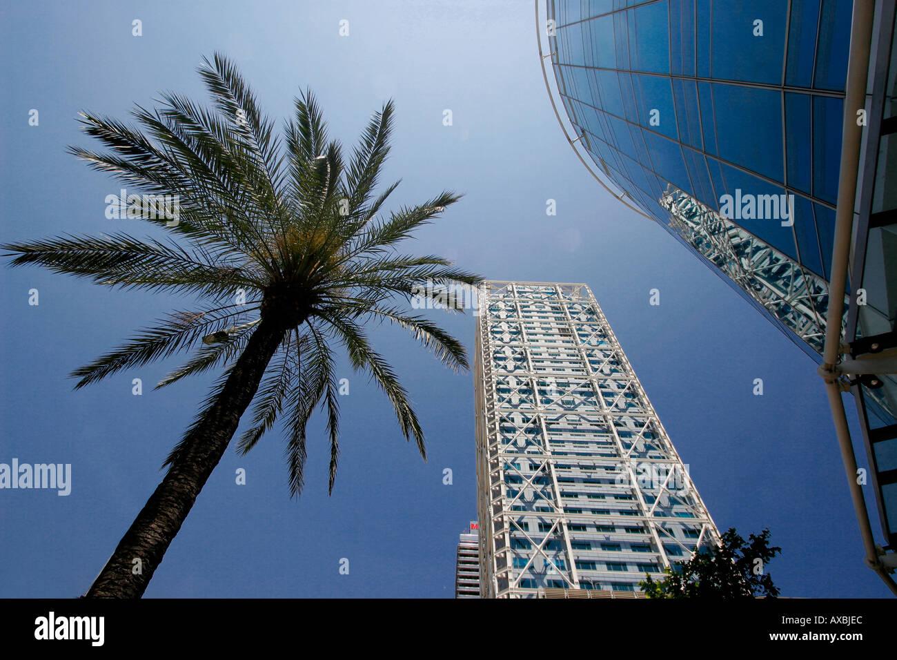 ESP Spain Barcelona Barceloneta Barcelona Hotel des Arts Stock Photo