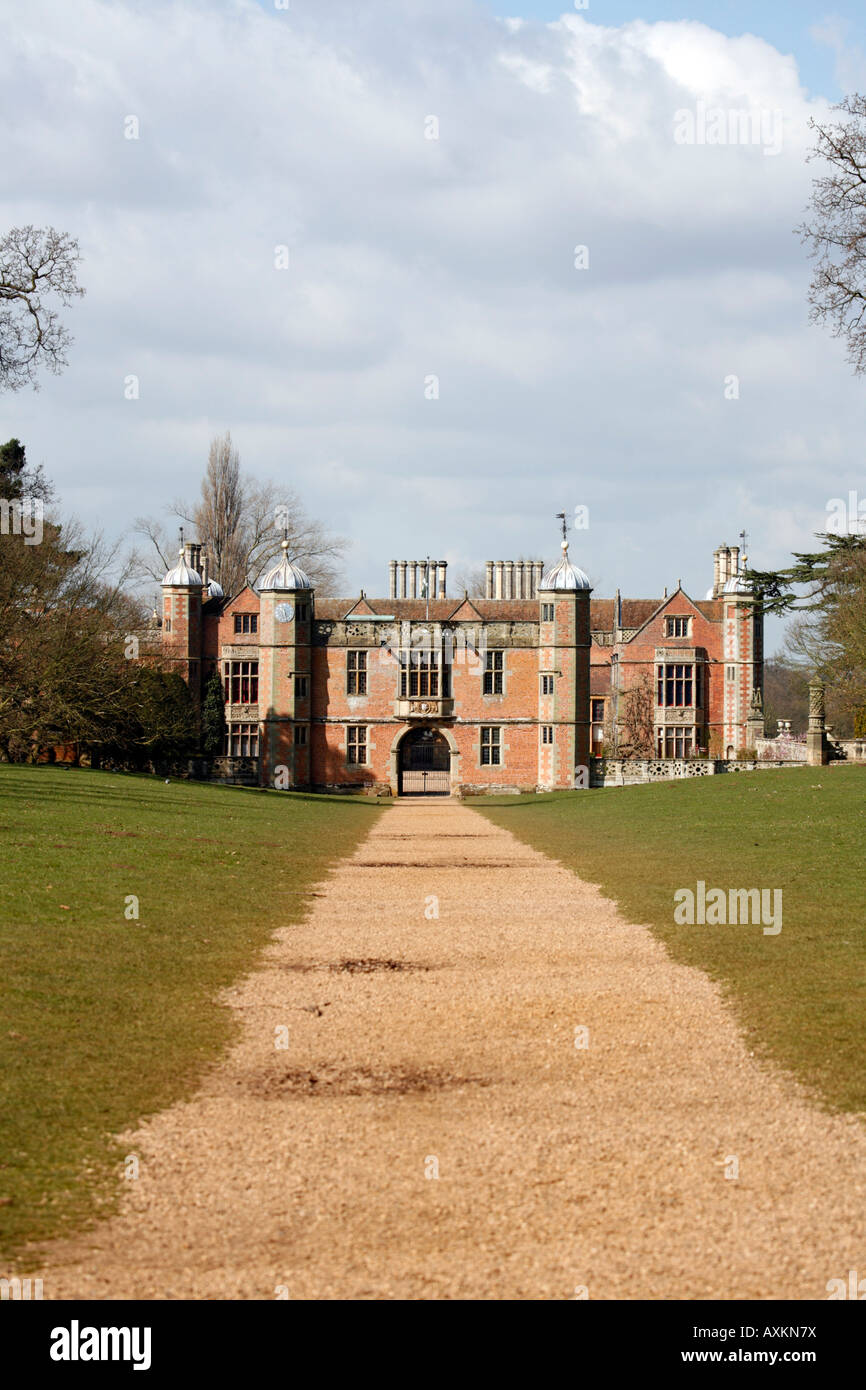 Charlecote Park Tudor  Manor House Stock Photo