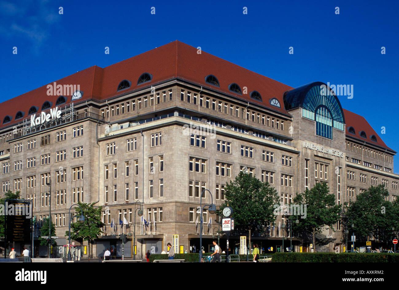 berlin the ka de we department store stockfoto lizenzfreies bild 9640065 alamy. Black Bedroom Furniture Sets. Home Design Ideas