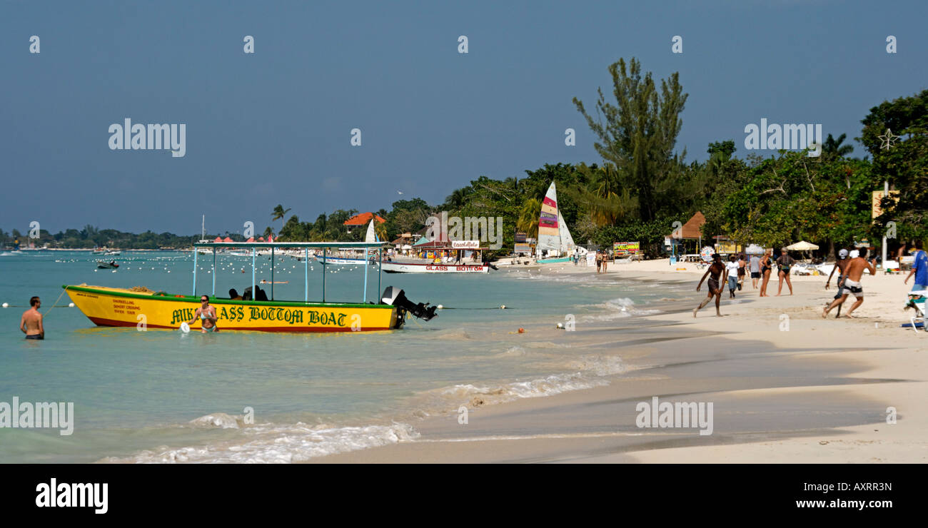 Jamaica Negril beach Stock Photo