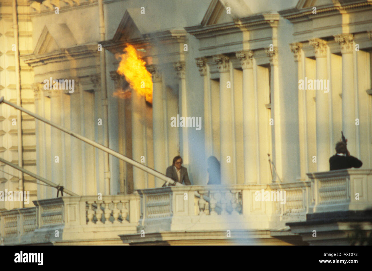 Iranian Embassy siege May 5th 1980 London UK HOMER SYKES Stock Foto