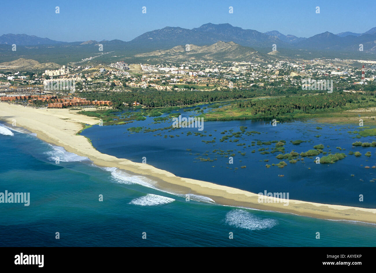 The town of san jos del cabo and the adjacent san jos estuary at stock photo royalty free - San jose del cabo ...