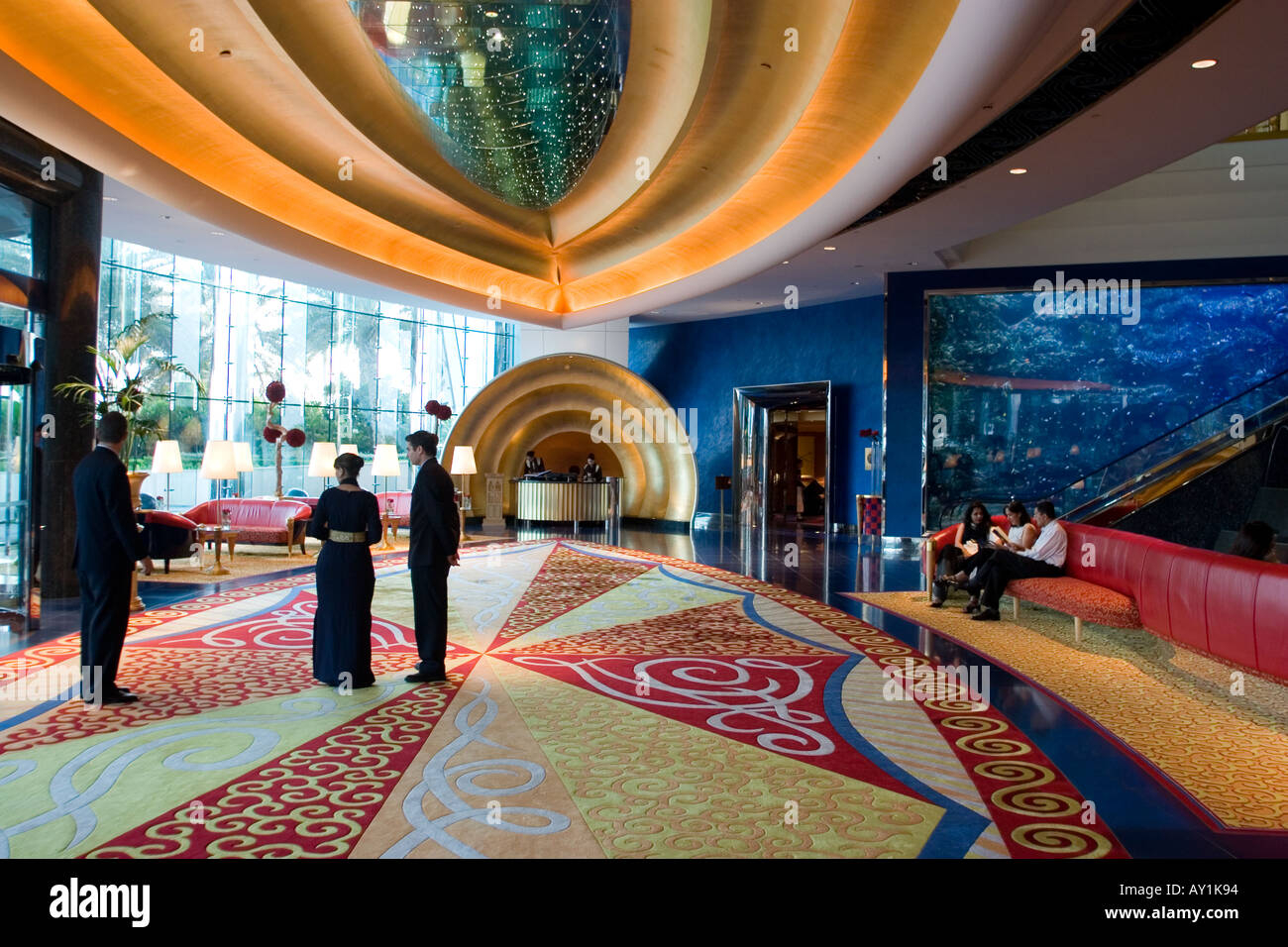 Burj Al Arab Hotel The Reception Area Dubai United Arab
