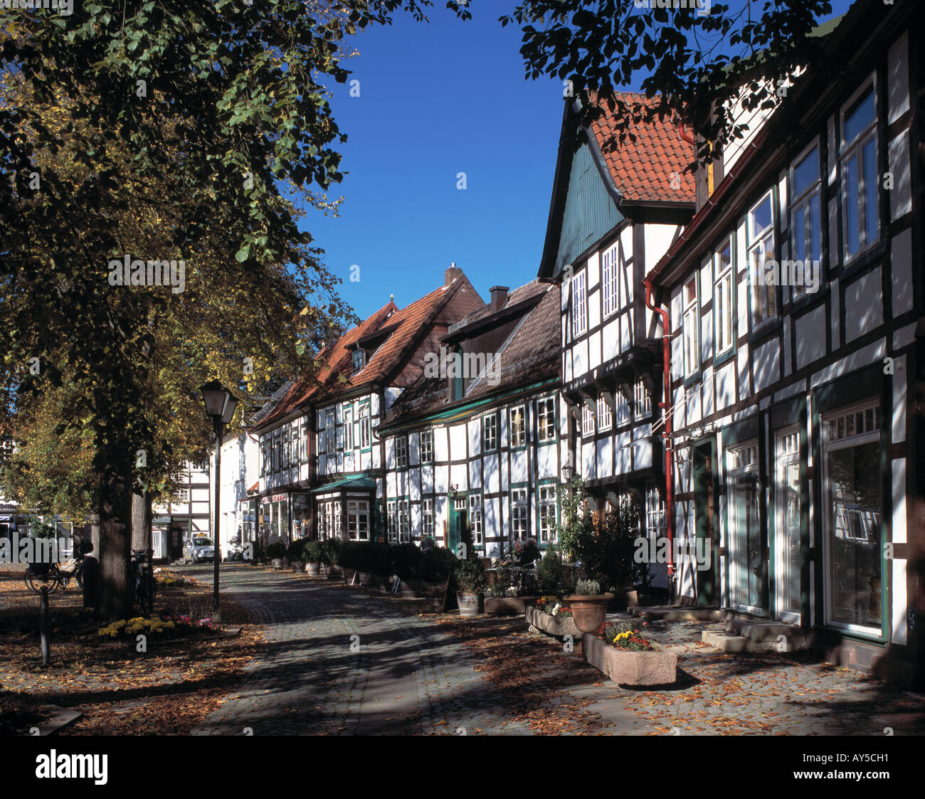Fachwerkhaeuser Am Kirchplatz In Bad Essen Hunte
