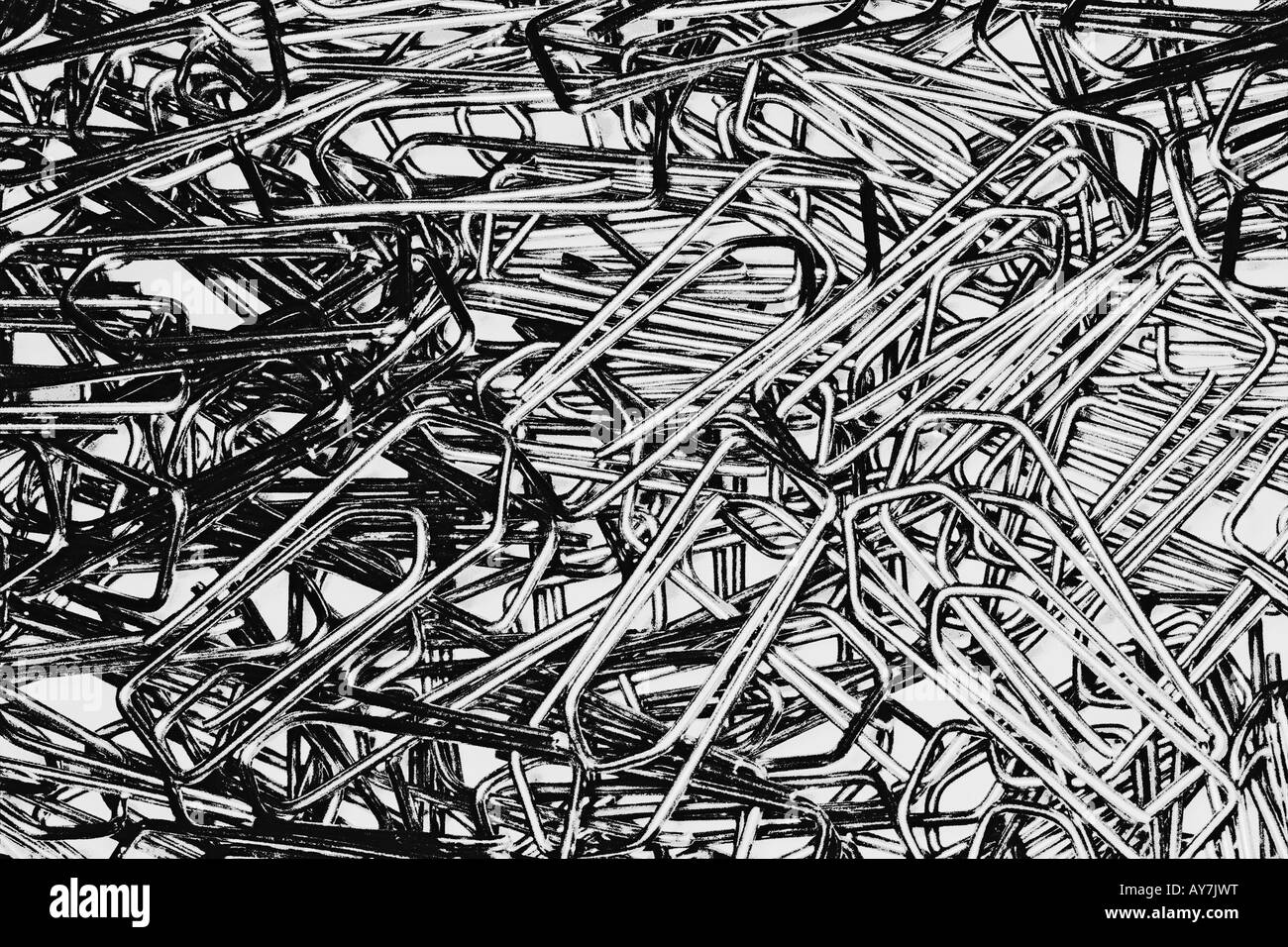 Large Group Of Paper Clips Stock Photo