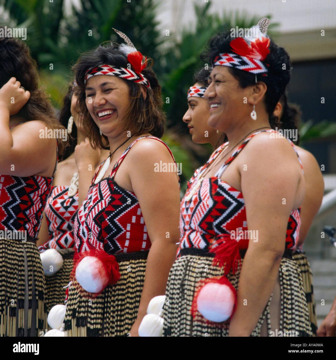 Women In Maori Culture: Female Maori Singers And Dancers In Traditional Dress From